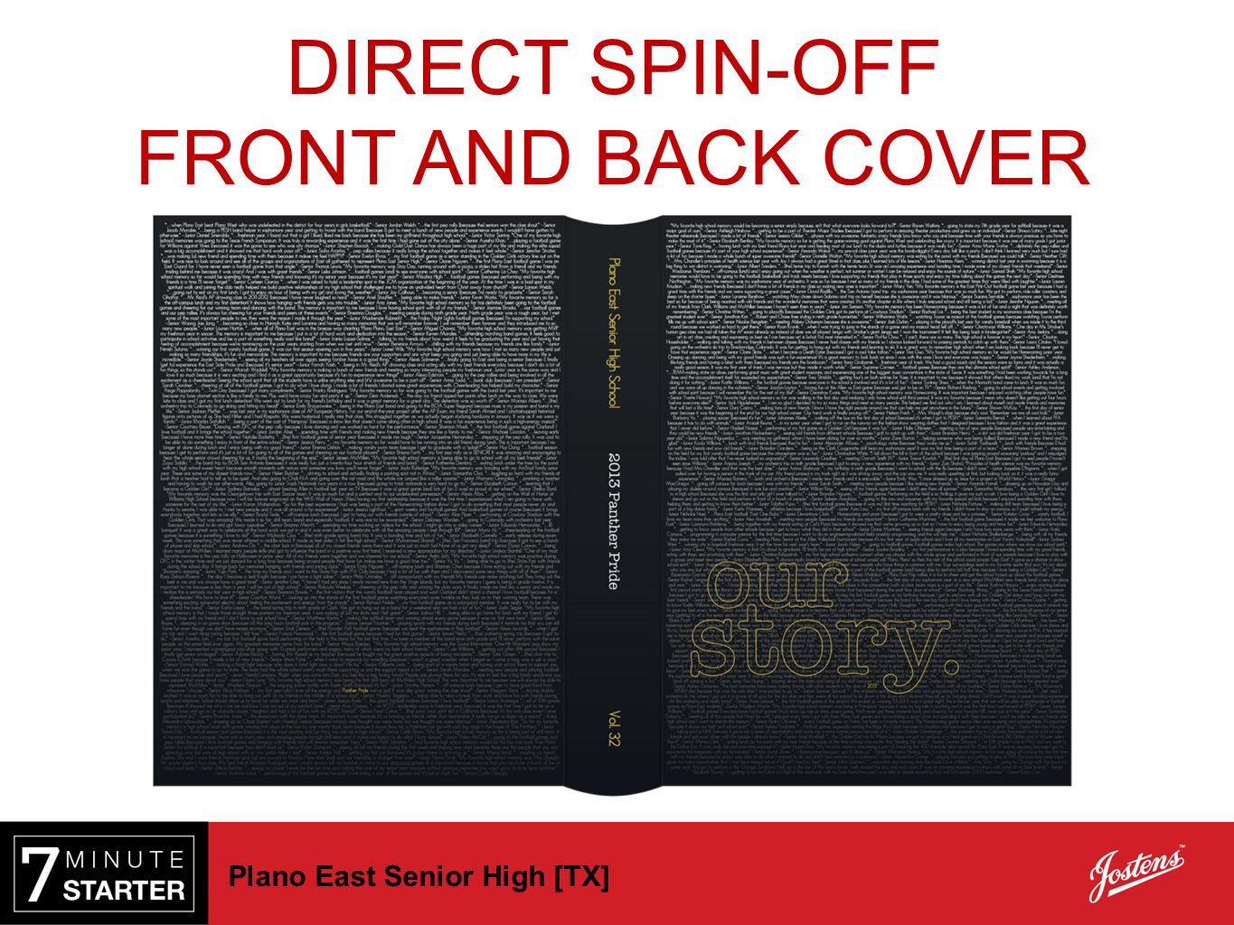 DIRECT SPIN-OFF FRONT AND BACK COVER Plano East Senior High [TX]